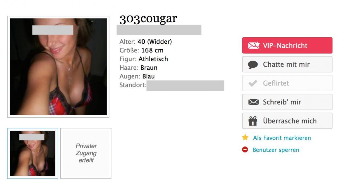 Cougar dating seiten